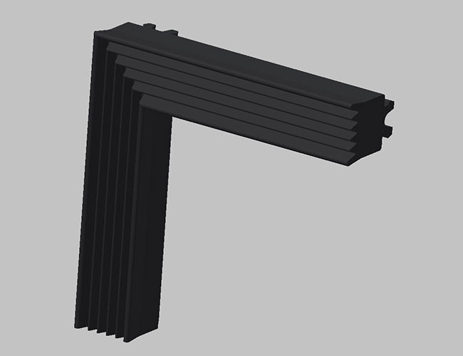 Rubber angled extrusions