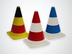 Rubber traffic cones