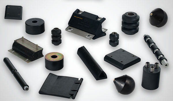 Rubber metal vulcanised parts