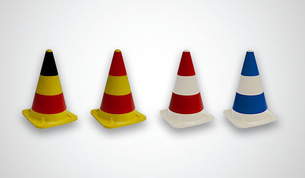 Rubber traffic cones