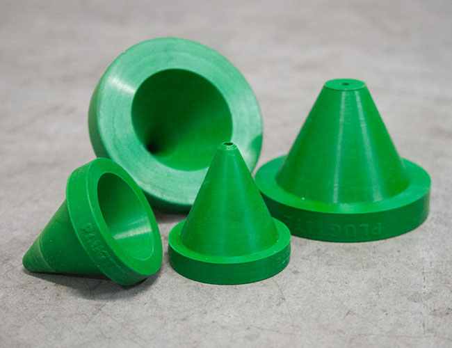 Rubber nozzle adaptors for maintenance